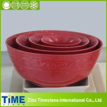 Juego de cuenco de cerámica retro (15031801)