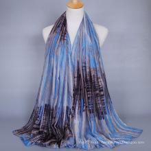 Vente chaude dubaï hijab en gros imprimé écharpe châle femmes hijab 180x90 cm écharpe en coton
