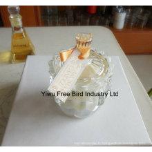 Porte-bougie de couronne impériale de verre décoratif de vente chaude avec la bonne qualité