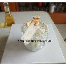 Suporte de vela de coroa Imperial de vidro decorativo venda quente com boa qualidade