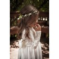 FGTC5 Pretty High Quality New Style Kids Wedding Party Dress Long Sleeve Lace Flower Girl Dress