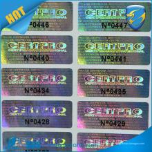 Auf Verkauf Laser verbrannt Prägung Hologramm Aufkleber 3d Hologramm benutzerdefinierte Aufkleber