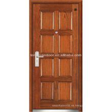 Puerta cortafuego, puerta acorazada de madera de acero