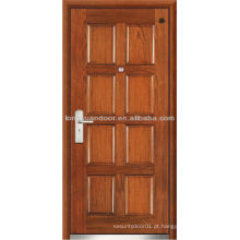Porta de fogo traseira, porta blindada de madeira de aço