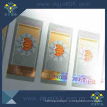 Hot Stamping Hologram on Paper Sticker