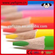 Crayon de couleur en bois de triangle de haute qualité de 7 pouces