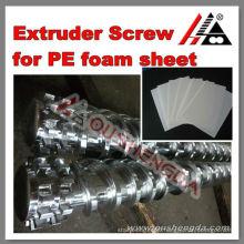 pe extruder machine acrylic stainless steel sheet cylinder screw
