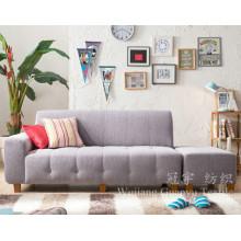 Couro decorativo 100% poliéster sofá tecido de camurça