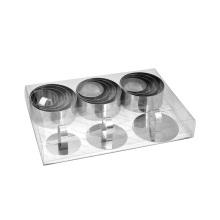 stainless steel dessert ring 16pcs