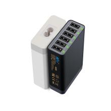 5V12A 6 portas USB carregador 60W para carregador de parede móvel