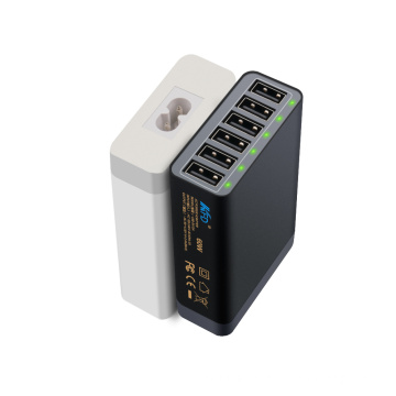 5V12A 6 Port USB Charger 60W for Mobile Wall Charger
