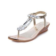Women Summer Non-slip Beach Clip-toe Flat Sandals