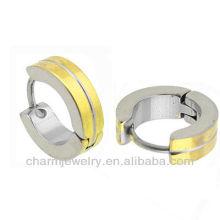 Hot sale huggie earrings 14K gold plated Surgical steel Men's Earring HE-027