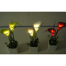 Künstliche Blumen Mini Tulip LED mit Keramik-Topf für Förderung