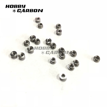 M3 Stainless Steel Press Nuts dengan nilon