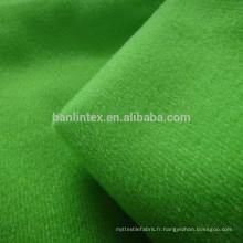 100% polyester tricot brossé tricot tissu pour vêtement