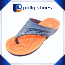 Sandálias Cinza Vermelho Slip-on Flip Flop Tanga Men′s Sz 12