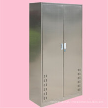 Meubles à la maison maison propre armoire à outils 304 en acier inoxydable 2 porte armoire