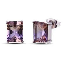 Brincos de cristal Amethyst da jóia da forma do luxo