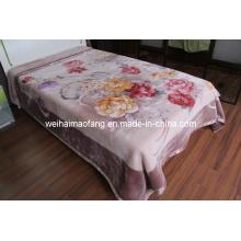 Рашель печати полиэстера одеяло норки (MQ-LAPB001)