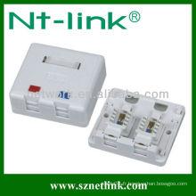 2 ports rj45 surface modulaire Jack