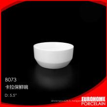 compagnie aérienne royal de Chine fournisseur utiliser petit bol en porcelaine blanche