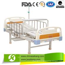 Lit d'hôpital manuel d'acier inoxydable de 2 fonctions pour la salle de malade