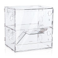 2 níveis de acrílico de luxo personalizados caixas de gaiola artesanais de hamster