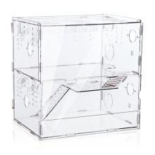 2 Tiers Luxus Acryl Custom Handgefertigte Hamster Käfig Boxen