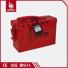 Boîtier / boîte de verrouillage en acier rouge Safety Osha-K01