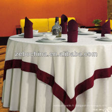 Conception de mode fabrication directe faite en gros des vêtements de table personnalisés pour le mariage