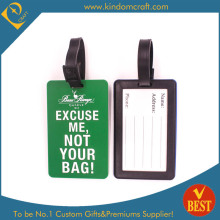 Custom Color Printed Soft PVC Luggage Tag