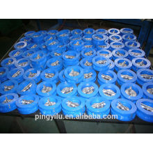 flapper water wafer type dual plate check valve Ductile iron spring loaded butterfly set low pressure check valve price