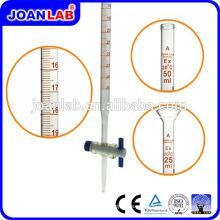 JOAN Laboratorio de vidrio 50ml Bureta con PTFE de goma recta