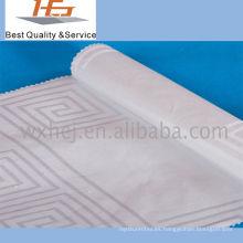 Tela de algodón blanca del poliéster de la raya para la materia textil casera