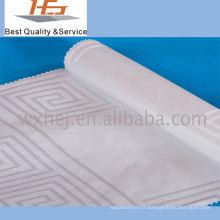 Tissu blanc de coton de polyester de rayure pour le textile à la maison