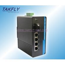 4-Port 10 / 100m Industrial Grade Poe Unmanaged Ethernet Switch