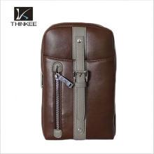 Großhandel Drop Shipping Vintage 100% Echtem Leder Rindsleder Männer Brusttasche Kleine Schulter Cross Body Messenger Bag Taschen Für Männer