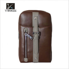 Wholesale Drop Shipping Vintage 100% Genuine Leather Cowhide Men Chest Bag Small Shoulder Cross Body Messenger Bag Bags For Men