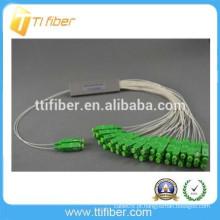 2 * 32 SC APC tubo de aço tipo PLC divisor de fibra óptica