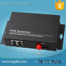 2 канала горшки (разъем RJ11) телефонной линии через конвертер волоконно-оптического кабеля для телефона конвертер