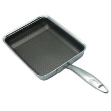 Сковорода из нержавеющей стали с антипригарным покрытием для травления в виде сот