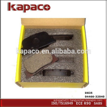 High Performance Car Brake Pads for Toyota Camry D835 04466-32040