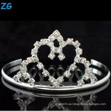 Peines nupciales cristalinos de la alta calidad, peines baratos del pelo, peine del pelo del corazón de la boda,