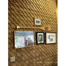 Panneau de mur en bois de cèdre en gros d'usine comme arrière-plan