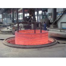 Estrutura do equipamento da fornalha de forjamento de anel de flange