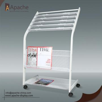Newspaper Magazine Floor Display Stand