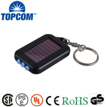 Fashion mini solar power flashlight keychain for promotion wholesale