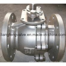 2 PC ANSI válvula de bola de extremo de brida con acero inoxidable RF