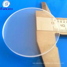 Disco de silicone fundido de vidro claro lustrado circular de quartzo de Windows com furo